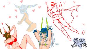 Dissidia Paintchat theme: Armor and Bikini